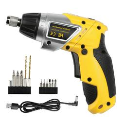 LED Cordless Electric Screwdriver Household Battery Recharge