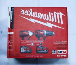 *NIB* Milwaukee M18 Compact Two Tool Combo Kit Drill and Imp