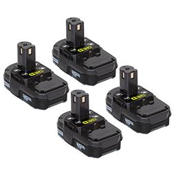 Ryobi P102 18V 1.3Ah ONE+ Lithium Ion Battery - 4 Pack