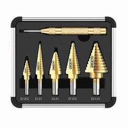 Tacklife PDH06A Classic Titanium Step Drill Bit Set & Automa