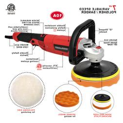 "Toolman Polisher Buffer Sander 7"" Variable Speed 3500 RPM 10"