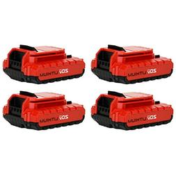 Porter Cable PCC680L 20V Max Lithium Ion Battery - 4 Pack