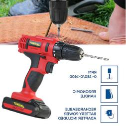 Power 21V Portable Cordless Electric Screwdriver Drill +29Pc