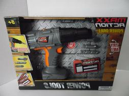 Maxx Action POWER DRILL WITH BITS Realistic Sound and Motion