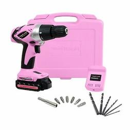 Pink Power PP181LI 18V Cordless Lithium Ion Drill Kit for Wo