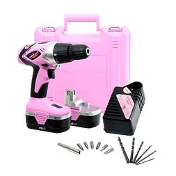 Pink Power PP182 18V Cordless Electric Drill Driver Set for