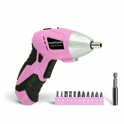 Pink Power PP481 4.8V Cordless Electric Screwdriver Kit with