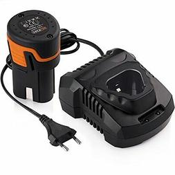 PPK01B 12V 2000mAh Lithium Ion Cordless Drill Battery and 10