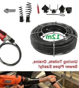 Professional Drain Pipe Cleaner Drill Attachment Plumber Sna