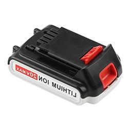 Replace for Black and Decker 20V Battery Lithium-Ion Max 200
