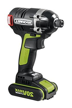 Rockwell RK2860K2 20V Max Cordless Lithium-Ion 1/4 in. Brush