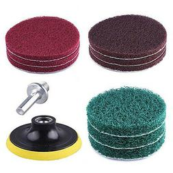 Scrub Pads 4'' Drill Power Brush Tile Scrubber Scouring Pads