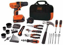 Tool Set Home Improvement Cordless Drill 68 Pieces Complete