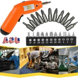 US 6V Battery Operated Cordless Electric Screwdriver Drill P