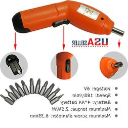 US  6V Portable Wireless Electric Screwdriver Drill Power To