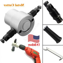 US Metal Double Head Sheet Nibbler Cutter Holder Power Drill